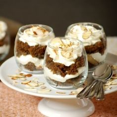 Gingerbread trifle by TastyTrials  --  pears would be nice in this ....