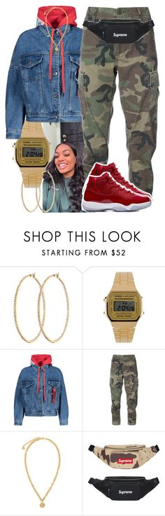 """Dark Knight Dummo x Trippie Red "" by trinsowavy ❤ liked on Polyvore featuring Henri Bendel, Casio, RE/DONE and Versace"