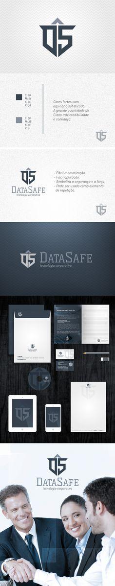 Criação de marca e identidade visual - DataSafe #Freelancer