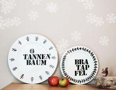 Deko Teller mit Spruch // decorative wall plate for christmas via DaWanda.com