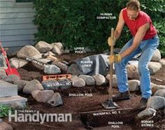 Large backyard landscaping ideas are quite many. However, for you to achieve the best landscaping for a large backyard you need to have a good design. Large Backyard Landscaping, Ponds Backyard, Landscaping With Rocks, Garden Pool, Backyard Waterfalls, Koi Ponds, Landscaping Ideas, Backyard Ideas, Pond Ideas