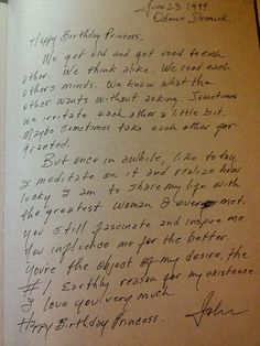 Johnny Cash's birthday letter to June. This is perfect.