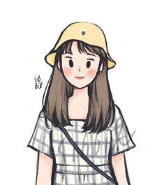 Cartoon Art Styles, Cute Art Styles, Cartoon Girl Drawing, Girl Cartoon, Art Drawings Sketches, Cute Drawings, Kawaii Drawings, Arte Indie, Dibujos Cute