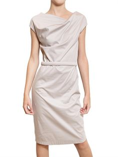 JIL SANDER - COTTON JERSEY DRESS