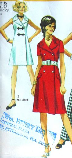 Vintage Dress Pattern UNCUT Simplicity 9220 Size 16
