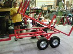 Resultado de imagem para home made dump cart tractor Welding Jobs, Diy Welding, Metal Welding, Welding Table, Metal Projects, Welding Projects, Diy Projects, Welding Ideas, Atv Trailers