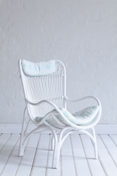 Rattan slouch chair - white from The Family Love Tree : white rattan chair - Cheerinfomania.Com