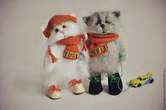 вязаные КОШКИ В САПОЖКАХ - кот,котик,кошка,игрушка ручной работы,вязаная игрушка