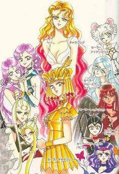 Sailor Galaxia and her Sailor animates