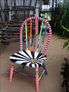 Hand painted chair for little girl, almost finished