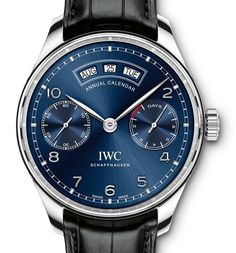 "IWC Watches Portuguese Annual Calendar Watch With New Portugieser Name & Movement - by Ariel Adams - on aBlogtoWatch.com ""We are pretty excited about this new IWC Portugieser Annual Calendar watch which debuts with the IW503501, IW503502, IW503504 references. For SIHH 2015 IWC will dedicate their focus the brand's iconic Portuguese collection with a range of new models... One of the oddest parts of this watch has nothing to do with the design but rather the name..."" #ablogtowatchSIHH2015"