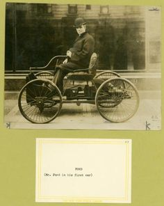 Ford in his first car