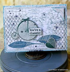 crafty goodies: Darkroom Door stamp~Penny Farthing cards.