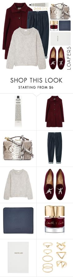 """""""fall footwear trend: loafers"""" by jesuisunlapin ❤ liked on Polyvore featuring Grown Alchemist, Opening Ceremony, Mark Cross, Chloé, Stubbs & Wootton, FOSSIL, Smith & Cult, Sloane Stationery and Forever 21"""