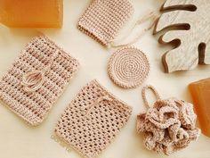 Esponjas naturales y ecológicas de crochet BIO 100% algodón orgánico - Gloriarte crochet Crochet Dishcloths, Crochet Slippers, Crochet Stitches, Love Crochet, Diy Crochet, Crochet Toys, Crochet Coaster Pattern, Crochet Patterns, Crochet Baby Clothes