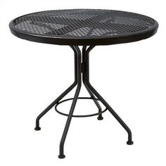 Woodard Mesh Top Contract Round Bistro Table Finish: Hammered White, Table Size: 42""