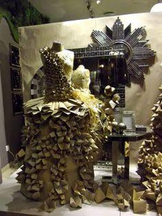 escaparates con papiroflexia   vidriera Musgo