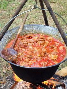 Pincepörkölt bográcsban Croatian Recipes, Hungarian Recipes, Native Foods, Food And Drink, Cooking Recipes, Favorite Recipes, Meals, Kitchen, Food Porn
