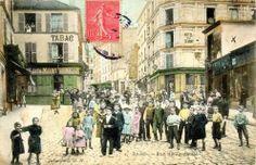 #photo Rue de Ménilmontant vers 1900 #PEAV #Paris20 @Menilmuche @HistoricalPics @ParisHistorique