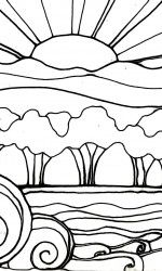 Sunset Coloring Pages for Adults Inspirational 2719 Best Images About Coloring Pages Hand Embroidery Clip Beach Coloring Pages, Free Coloring Pages, Coloring Books, 3rd Grade Art, Mosaic Patterns, Art Plastique, Digital Collage, Doodle Art, Art For Kids