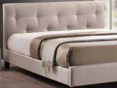 Modern-Queen-Bed-Headboard-Frame-Platform-Furniture-Tufted-Linen-Buttons