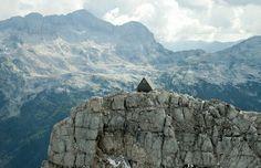 Pondok gratis di puncak alpen
