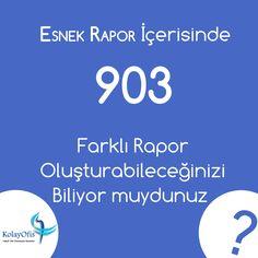 KolayOfis Hukuk Otomasyon Sistemleri İçerisinde Yer Alan Esnek Rapor ile 903 Farklı Rapor Oluşturabilirsiniz.