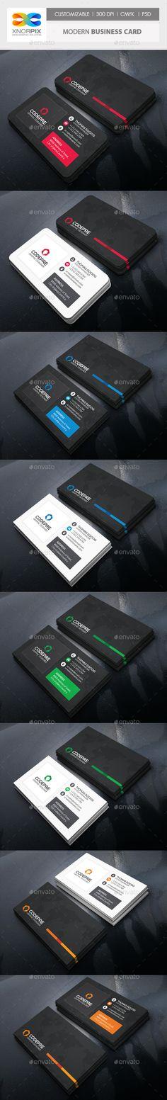 Modern Business Card PSD Template #design Download: http://graphicriver.net/item/modern-business-card/12773429?ref=ksioks