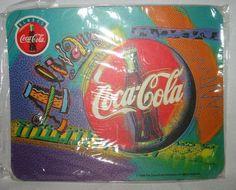 1998 Coca-Cola Coke Always Coca-Cola Mouse Pad Bright Colors Brand New Sealed #CocaCola