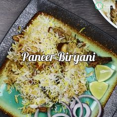This paneer biryani is unique, flavorful and amazingly delicious. If you are a vegetarian and love the flavors of authentic biryani then this paneer biryani is a must try. Veg Biryani Recipe Indian, Biryani Recipe Video, Paneer Recipes, Veg Recipes, Vegetarian Recipes, Paneer Biryani, Dum Biryani, Jamun Recipe, Indian Dessert Recipes