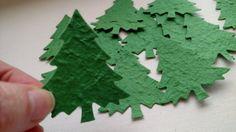 Papier mûrier arbres de Noël arbres de papier par MyButterflyHeaven
