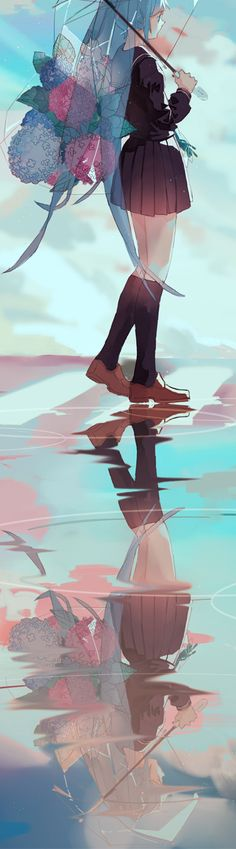 I love the reflection of Hatsune Miku!!