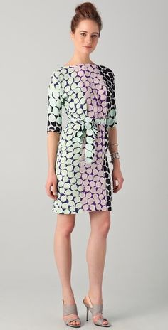 I've never seen this DvF print and I love it!  #amyesperstyling