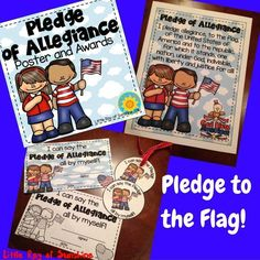 """If you're like me and start each day with your class saying the Pledge of Allegiance, then this product is for you! It comes with one FULL COLOR Poster and Awards in both Full Color & Black and White that read """"I can say the Pledge of Allegiance all by myself!"""" Also included are 3.5 inch circular badges that read """"I can say the Pledge all by myself!"""""""