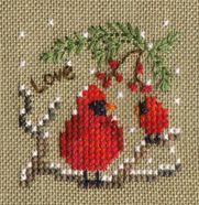 Ideas For Embroidery Patterns Birds Punto Croce Cross Stitch Christmas Ornaments, Xmas Cross Stitch, Cross Stitch Needles, Christmas Embroidery, Cross Stitching, Cross Stitch Embroidery, Embroidery Patterns, Christmas Cross Stitches, Jean Embroidery