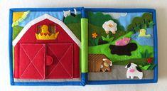 Quiet book Toddler quiet felt book learning busy book montessori farm animals