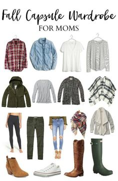 This fall capsule wardrobe for moms will keep you looking stylish, fresh, and, most importantly, COMFORTABLE during the fall season. Many of these items you probably already own! | How to Create a Fall Wardrobe from Clothes You Already Own | Fall Capsule