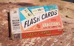 Vintage Fraction Flash Cards by theindustrycottage on Etsy