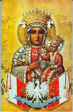 Queen of Poland virgin mary Madonna Art, Madonna And Child, Catholic Art, Religious Art, Our Lady Of Czestochowa, Poland History, Visit Poland, Meditation Prayer, Artwork For Home