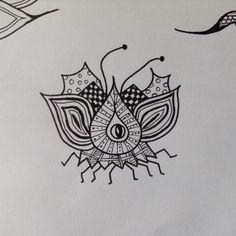 One of my zentangle doodle bugs....