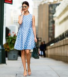 Street Style Season Is Here! The Best Snaps From New York Fashion Week Event Dresses, Nice Dresses, Casual Dresses, Spring Summer Fashion, Autumn Fashion, Looks Style, My Style, Giovanna Battaglia, New York Fashion
