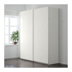 schrank ikea pax mit t ren vikanes keine griffe notwendig storage wall pinterest ikea pax. Black Bedroom Furniture Sets. Home Design Ideas