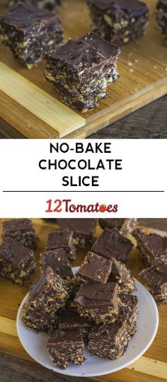 No Bake Chocolate Slice Chocolate Slice, Chocolate Graham Crackers, Chocolate Peanut Butter, Easy Baking Recipes, Baking Ideas, Cookie Recipes, Sweet Desserts, No Bake Desserts, Dessert Recipes