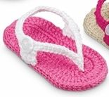 Hot Pink and White Crochet baby sandals-crochet,baby,shoes