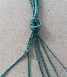 Ecocrafta Macrame : Snake knot bracelet