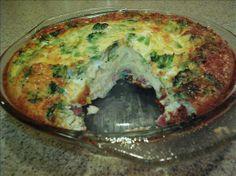 Crustless Ham and Cheese Quiche