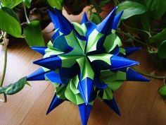Origami ❀ Igel curly ❀ Kusudama