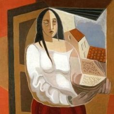 La liseuse Juan Gris (Spanish, Oil on canvas. La liseuse is a lyrical depiction of a young woman in front of an open window. Constructed with typical overlapping forms, the. Amedeo Modigliani, Henri Matisse, Gmunden Austria, Wall Canvas, Oil On Canvas, People Reading, Spanish Painters, Spanish Artists, Georges Braque