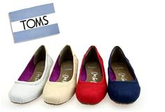 fresh and ready for your feet,TOMS shoes,god...SAVE 54% OFF! this is the best!