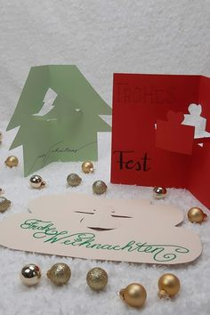 Place Cards, Place Card Holders, Stencils, Advent Calenders, Bricolage, Christmas